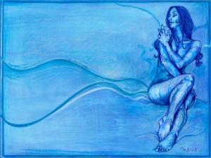 pensando en azul